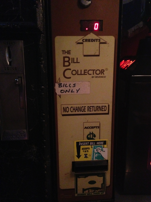This is the bill collector on what has to be one of the last cigarette machines in DC.